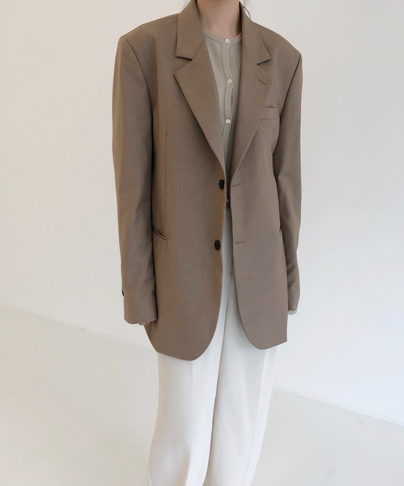 London single jacket [BEIGE]