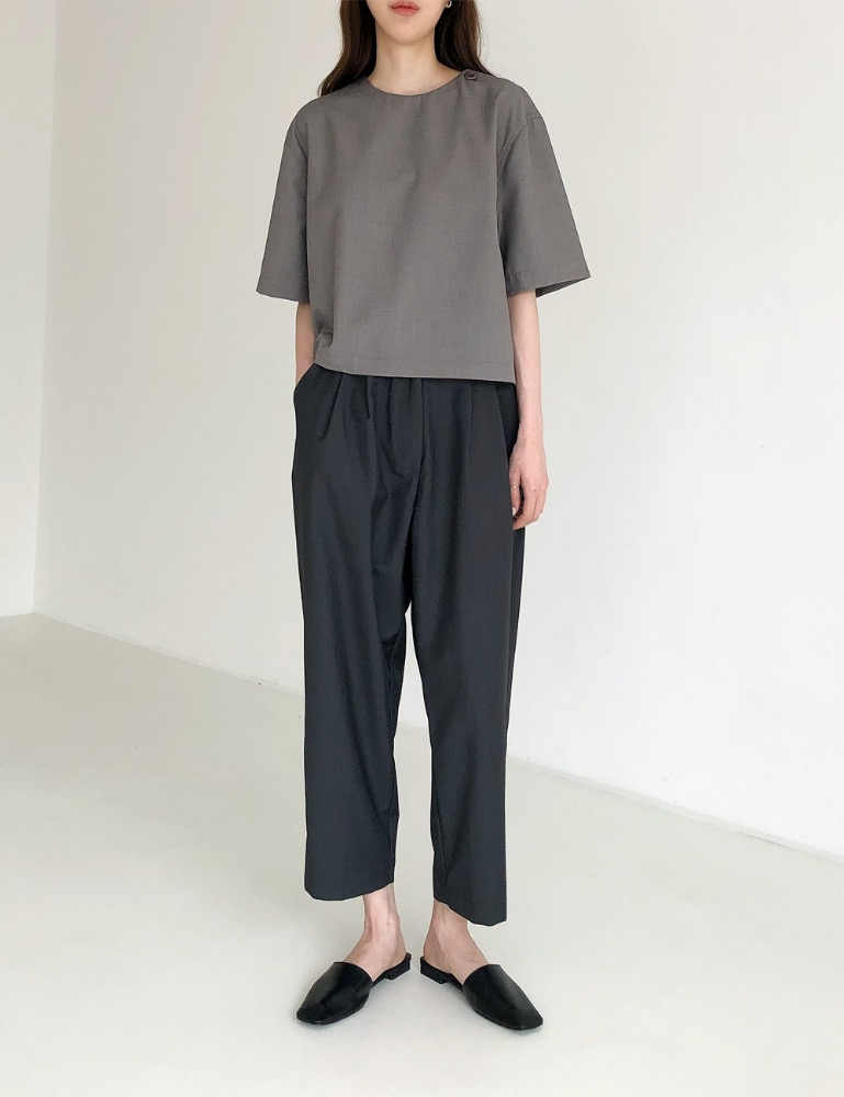 20S/S - 02. LOUND BUTTON HALF SHIRTS [GRAY]