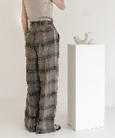 19S/S-02.LINEN BACK BUTTON WIDE PANTS [BEIGE]