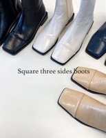 Square three sides boots