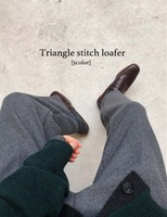 Triangle stitch loafer